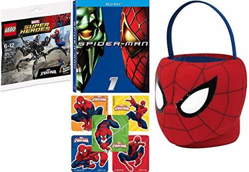 Marvel Spectacular Spider-Man Plush Basket + Movie Lego Super Jumper Venom Fun (Pop Culture Halloween Costume Ideas)