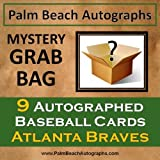 MYSTERY GRAB BAG - 9 Autographed Baseball Cards - Atlanta Braves