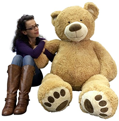 5 foot very big smiling teddy bear soft with bigfoot paws giant stuffed animal bear buy. Black Bedroom Furniture Sets. Home Design Ideas