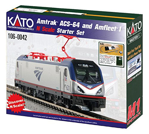 (Kato USA Model Train Products N Amtrak ACS-64 & Amfleet I Starter Set)