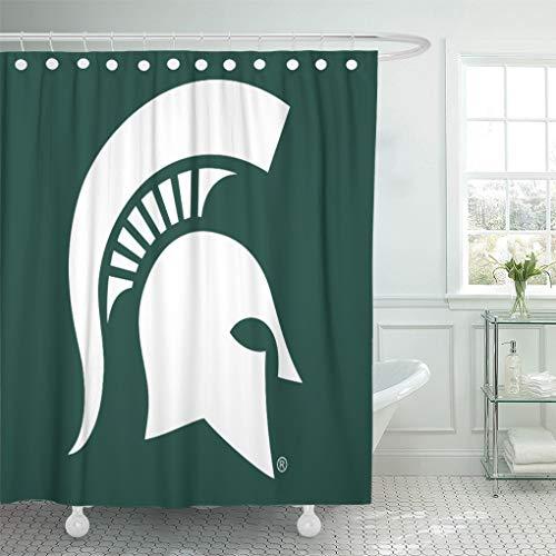 Semtomn Shower Curtain Green Msufanmerch Michigan State University Spartan MSU Alumni Sparty 72