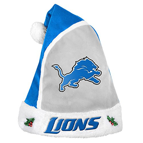 Detroit Lions Official NFL 2015 Holiday Santa Hat Holiday Santa Hat
