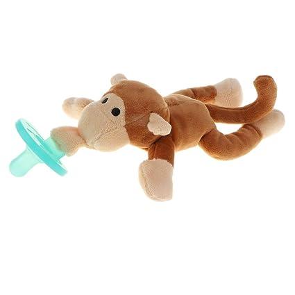 Sharplace Chupete de Bebés con Animal de Felpa Desmontable ...