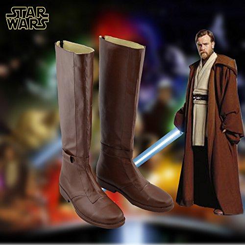 Star Wars Jedi Obi-wan Kenobi Cosplay Schoenen Bruine Laarzen Op Maat Gemaakt