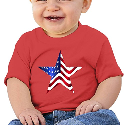 DIMANNU Infants T Shirts Toddlers Cotton Short Sleeves US Am