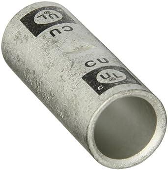 Morris Products 94440 Short Barrel Compression Splice, Copper, 750mcm Wire Range, Black Color Code