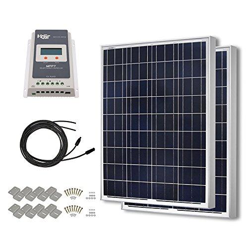 Hqst 200 Watt 12 Volt Polycrystalline Solar Panel Kit