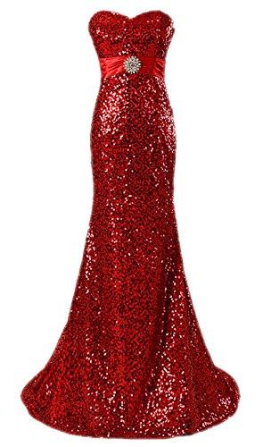 2016 Fanciest Partykleid Meerjungfrau Ballkleid Damen Abendkleider Sequin Red wR5RCq6