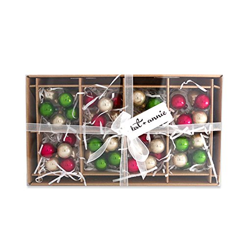 Rustic Christmas Metallic Clusters 1 Inch Boxed Set of 8 Glass Ball Ornaments (Inch Balls 1 Glass)