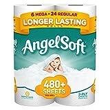 Angel Soft Toilet Paper Mega Rolls, 6 Count