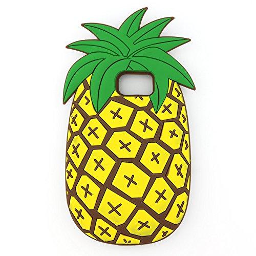 UFOTSAM Galaxy S7 Edge Case, Cute Cartoon Vivid 3D Summer Fruit Pineapple Kids Girls Gel Rubber Soft Silicone Case Cover for Samsung Galaxy S7 Edge (Pineapple)