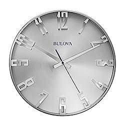 Bulova Director Wall Clock, Silver