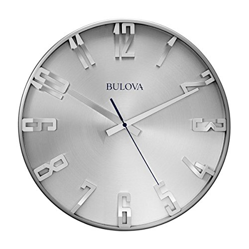 Bulova C4846 Director Wall Clock, Satin Pewter Finish
