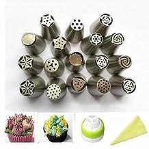MAXGOODS Russian Piping Tips 17 Pcs Set Bakeware Cake Tool