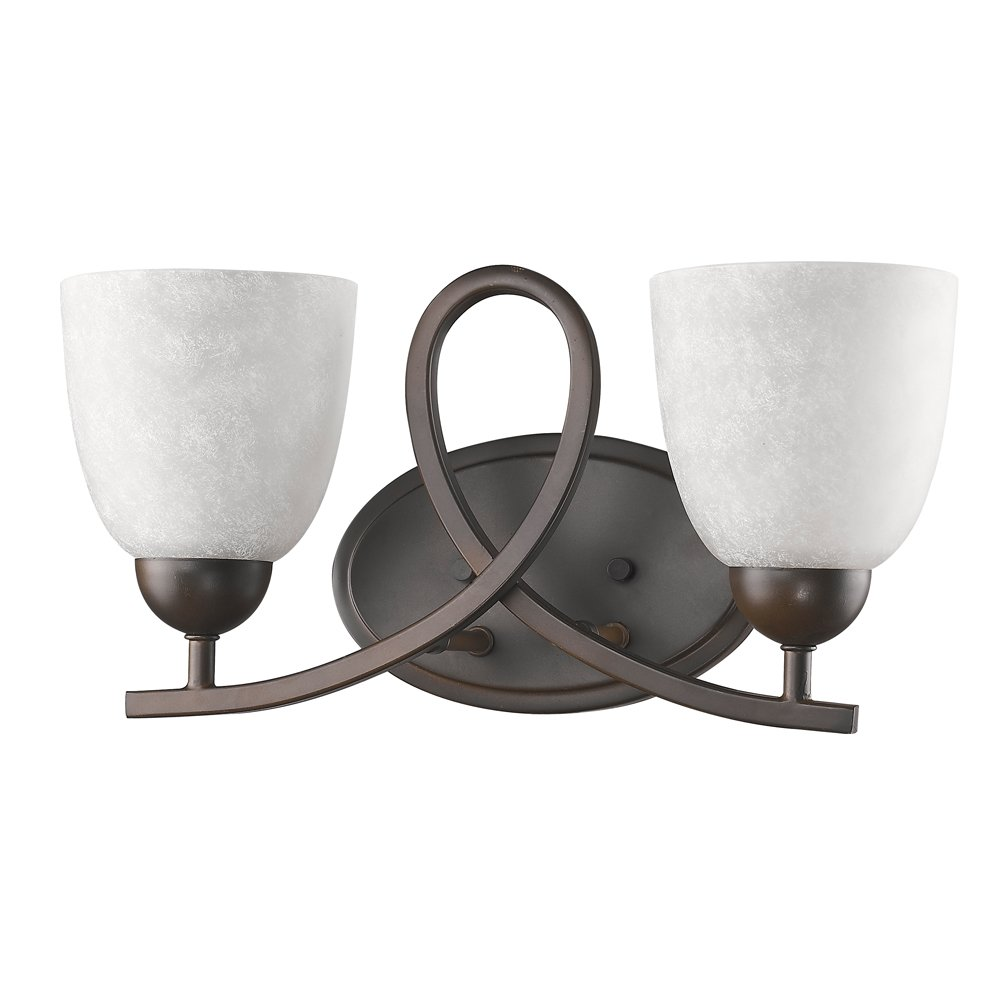 Acclaim Lighting IN41376ORB Toulouse Indoor 2-Light Bathroom Sconce with Glass Shades, Oil Rubbed Bronze