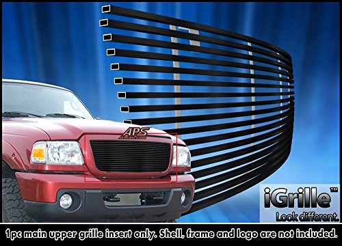 Black Stainless Steel eGrille Billet Grille Grill For 2006-2012 Ford Ranger