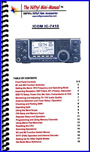 Icom Radio Manual (Icom IC-7410 Mini-Manual by Nifty Accessories)