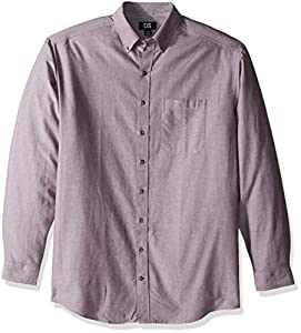 Cutter & Buck Men's Big and Tall Long Sleeve Oxford Shirt, Italian Plum, 3XL
