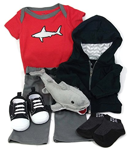 Sunshine Gift Baskets - Little Shark Jogger - Newborn Winter Baby Gift Set