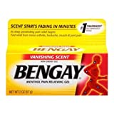 Bengay Vanishing Scent Non Greasy Menthol Pain Relieving Gel, 2 Ounce -- 36 per case.