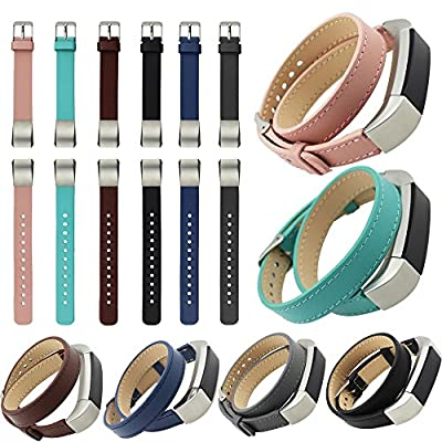 For Fitbit Alta,CoperTMDouble Tour Genuine Leather Watch Band Strap Bracelet For Fitbit Alta