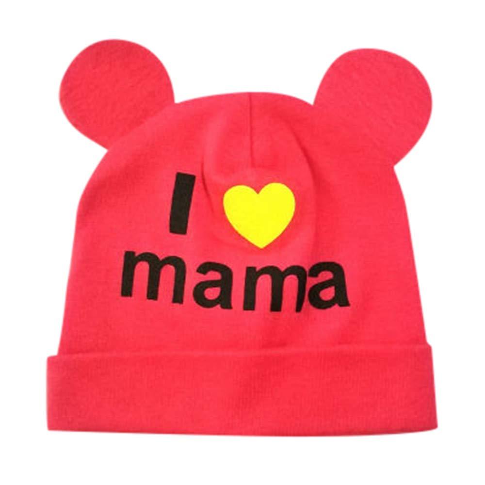 0-10 Month Baby Gilrs Boys Cap, Vinjeely Cute Bear Cotton 'I Love Mama Headgear Headwear Hat