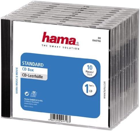 Hama 44746 - Carcasa para CD 10 Unidades, Transparente: Amazon.es: Informática