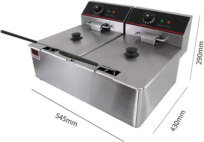 Deep Fryer Freidora Eléctrica 12L 5000W Freidora Industrial ...