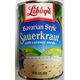 Libby's Bavarian Style Sauerkraut 14.5oz Can (Pack of 6)