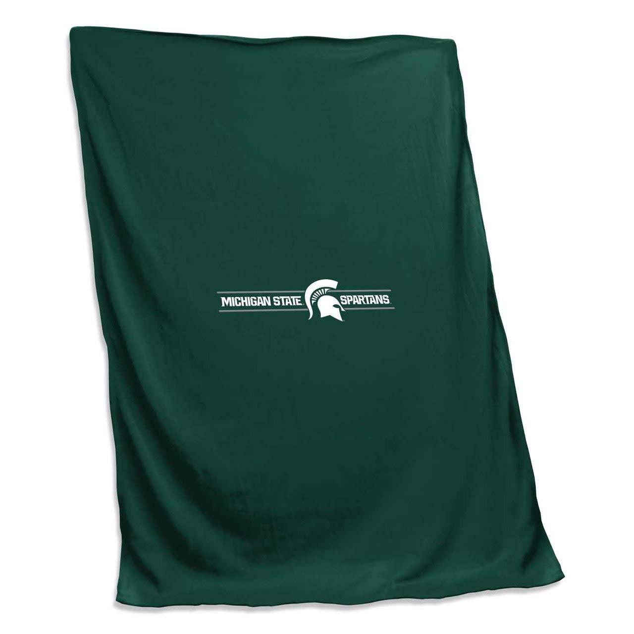 Logo Michigan State Spartans NCAA 54 X 84 Fleece Sweatshirt Blanket - Team Color, by Logo