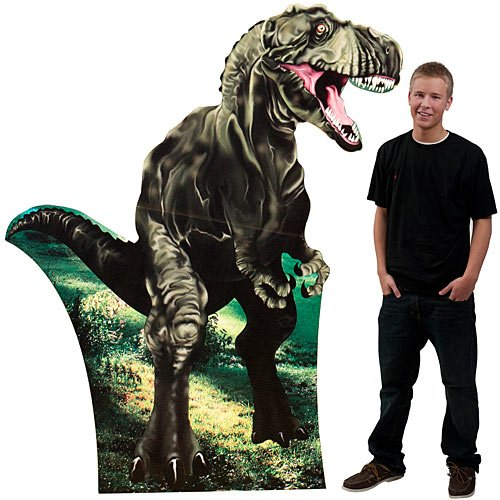 8 ft. Tyrannosaurus Rex T-Rex Large Dinosaur Standee Standup Photo Booth Prop Background Backdrop Party Decoration Decor Scene Setter Cardboard Cutout