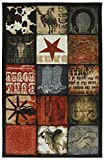 Mohawk Home Escape Cowboy Patches Printed Rug, 5'x8', Multi