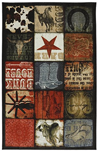 Mohawk Home Escape Cowboy Patches Multi Rug, 7'6 x 10'- Family Room Ideas - Make quick & easy changes to any room in your home in minutes by changing the rug - add color & patterns