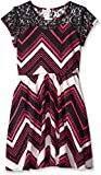 One Step Up Girls' Sweetheart Printed Liverpool With Lace Yoke Dress