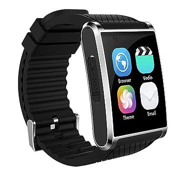 Wj Reloj Inteligente con Bluetooth, Sistema operativo Android 5.1, Reloj Deportivo Smart Tracker Impermeable
