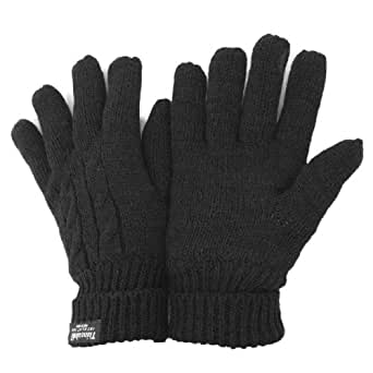FLOSO Ladies/Womens Thinsulate Thermal Knitted Winter Gloves (3M 40g) (One Size Fits All) (Grey)