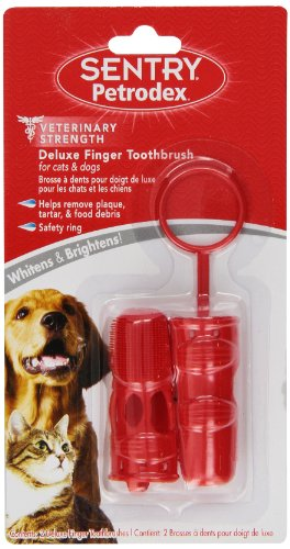 (Petrodex Deluxe Finger Toothbrush for Dogs and Cats, 2)