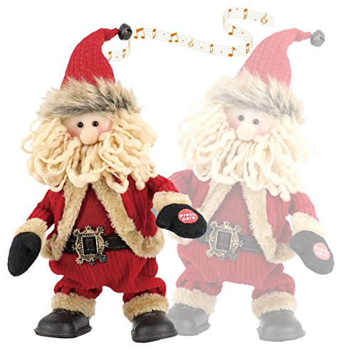 Final Holiday Sale Animated Christmas Singing and Dancing Santa Claus for Parties, Jolly Santa Plush, Electric Toys with Battery Powered for Christmas Gifts or Birthday Presents, Tall 11.8 inch (Animated Card Christmas Funny)