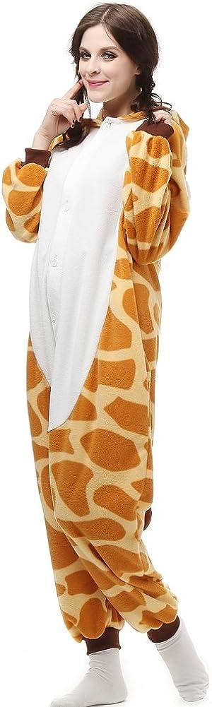 Unisex Adult Onesie Animal Pajamas One-Piece Cosplay Costume Women Man Halloween