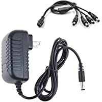 SLLEA AC / DC Adapter For Defender SN301 SN301-8CH-X SN301-8CHX SN301-BCH-X SN301-8CH-002 8 Channel H.264 Smart Video Surveillance Recorder Camera (For 4Pack Camera Use Only)
