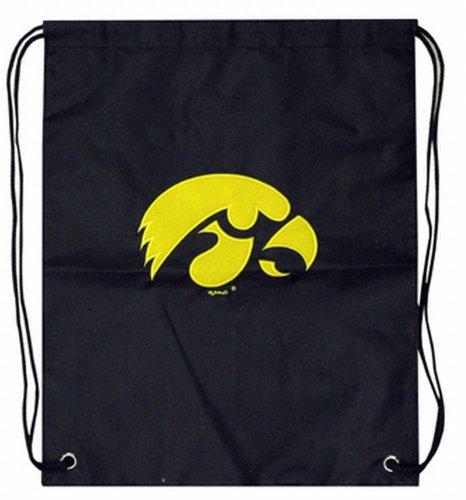 (NCAA Iowa Hawkeyes Backsack with Draw Strings and Team Logo, Medium, Team Color)