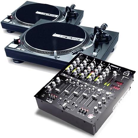 Equipo DJ Melbourne Downtown 2 Platos 1 Mesa de Mezclas: Amazon.es ...