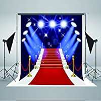 5x7ft Photography Backdrops Red Carpet Steps Spotlights Photo Background for Studio JXUS-YY00021-1