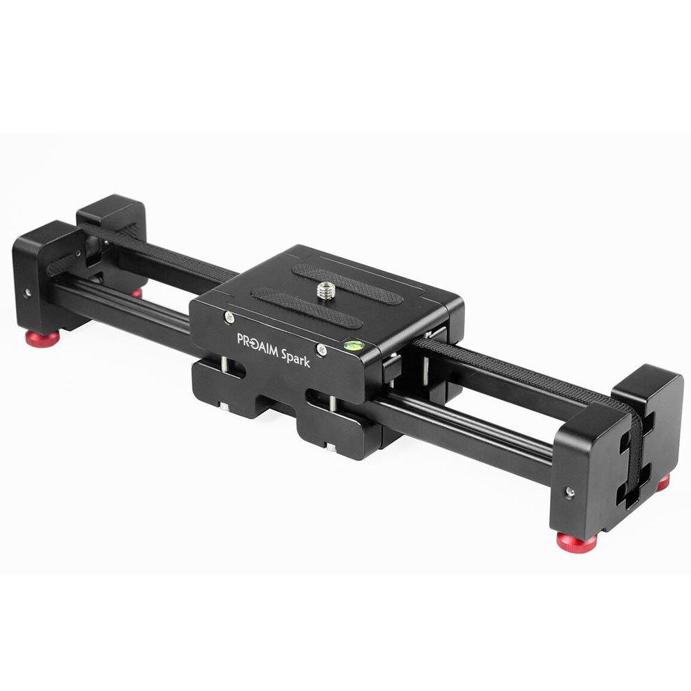 PROAIM Spark 13'' Video DSLR Camera Slider Extendable Double Travel Distance on Tripod Track Dolly Rail Slider (P-SPK-13) | BEST Travel Slider