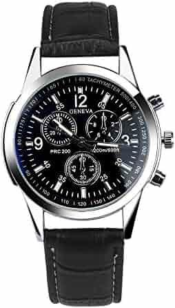 e4efaed4445 Men Quartz Watch COOKI On Sale Analog Business Casual Fashion WristWatch  Men s Cheap Leather Watch-