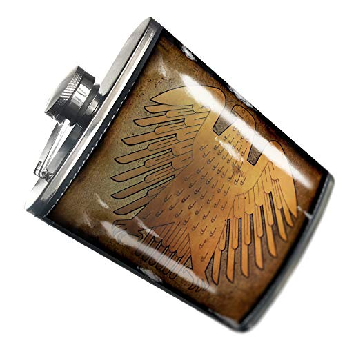 NEONBLOND Flask The German federal eagle Hip Flask PU Leather Stainless Steel Wrapped