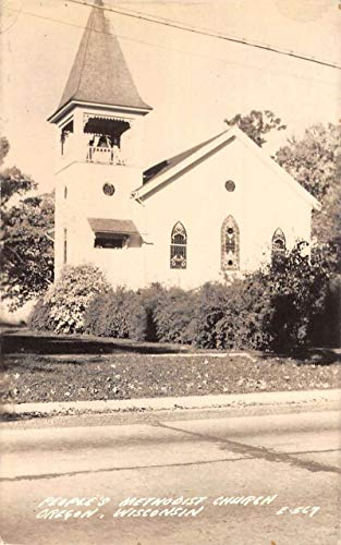 Oregon Wisconsin Peoples Methodist Church Real Photo Antique Postcard K670835