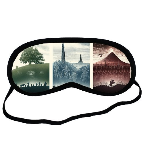 Lord Of The Rings Green Blue Red Eye Mask For Sleeping - Best Eye Mask For Sleep, Traveling, Relaxation, Meditation or Any Type Of Light (Red Eye Mask)