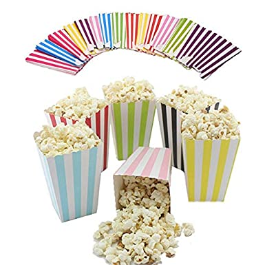 Fiesta Party Supplies Snack Boxes Striped Shape Favour French