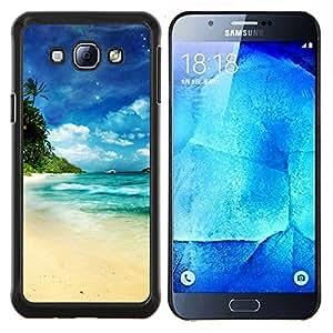Dream Island Paradise- Metal de aluminio y de plástico duro Caja del teléfono - Negro - Samsung Galaxy A8 / SM-A800